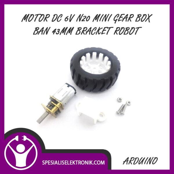 Motor DC 6V N20 Mini Gear Box Micro Gearbox Ban 43mm Bracket Robot