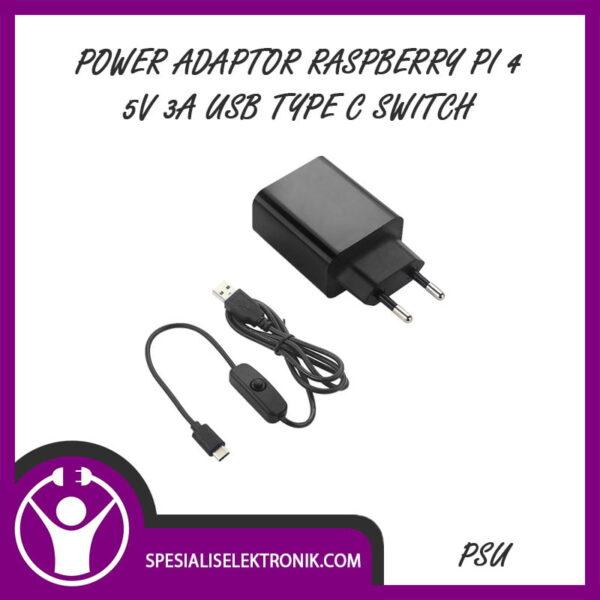Power Adaptor Raspberry Pi 4 5V 3A USB TYPE C Switch