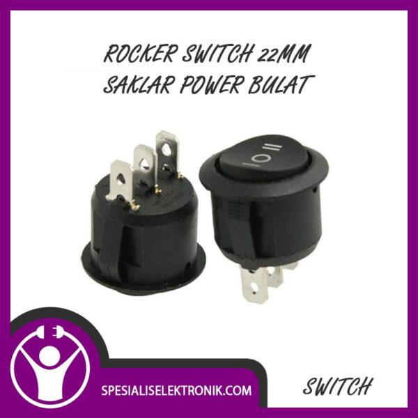 Rocker Switch 22mm Saklar Power Bulat